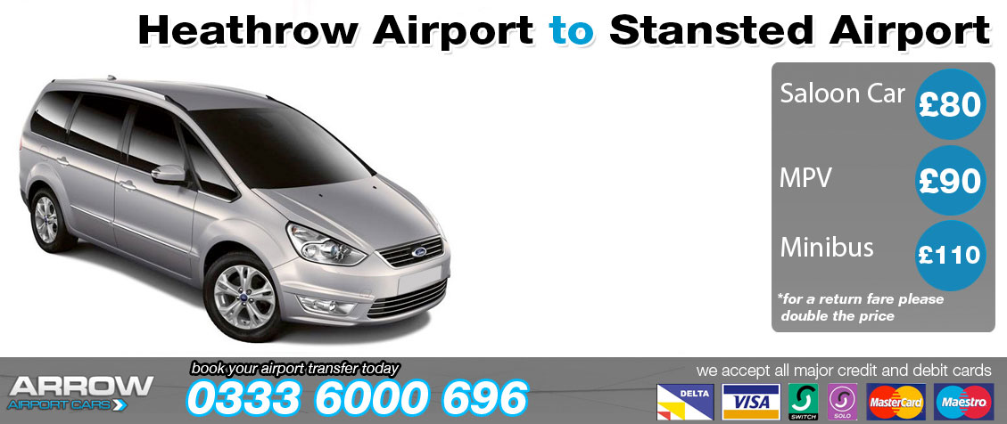 Book a Heathrow-Gatwick Airport Taxi Transfer Online